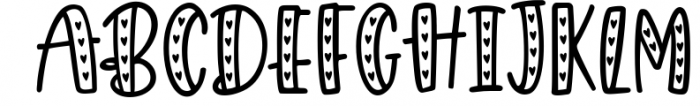 Giggle Hearts, An adorable valentine day font 1 Font LOWERCASE