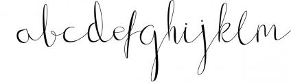 Gillithig Font LOWERCASE
