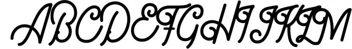 Gillnord Monoline Script extras illustration 2 Font UPPERCASE