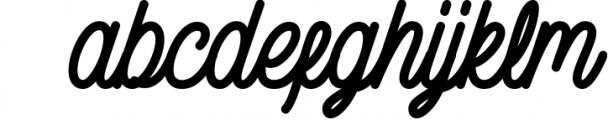 Gillnord Monoline Script extras illustration 2 Font LOWERCASE