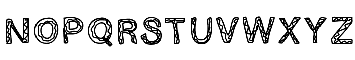 GINUMBER1 Font UPPERCASE