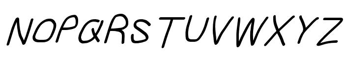 Gib Italic Font Plox Font UPPERCASE