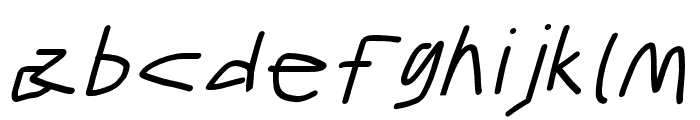 Gib Italic Font Plox Font LOWERCASE