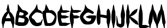 Gibberish Font UPPERCASE