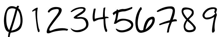 GiddeHand Font OTHER CHARS