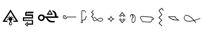 Giedi Golden Disk Font UPPERCASE
