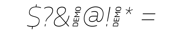 Gilam Thin Italic DEMO Font OTHER CHARS