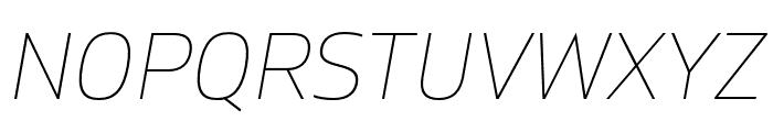 Gilam Thin Italic DEMO Font UPPERCASE