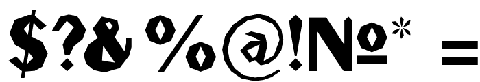 Gilgongo Sledge Font OTHER CHARS