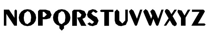 Gilgongo Sledge Font UPPERCASE