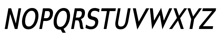GilliusADF-BoldCondItalic Font UPPERCASE