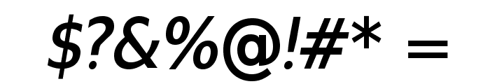 GilliusADF-BoldItalic Font OTHER CHARS