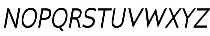 GilliusADF-Italic Font UPPERCASE