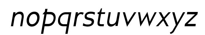 GilliusADF-Italic Font LOWERCASE
