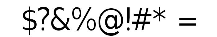 GilliusADF-Regular Font OTHER CHARS