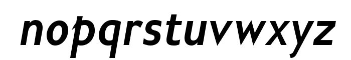 GilliusADFNo2-BoldCondItalic Font LOWERCASE