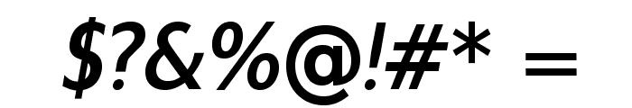 GilliusADFNo2-BoldItalic Font OTHER CHARS
