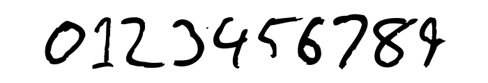 Gimp Scribble Font OTHER CHARS