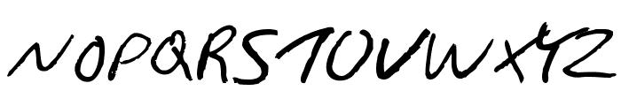 Gimp Scribble Font UPPERCASE
