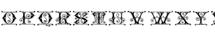 Gingerbread Initials Font LOWERCASE