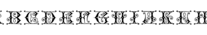 GingerbreadInitials Font UPPERCASE