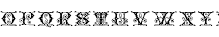 GingerbreadInitials Font LOWERCASE