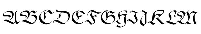 GingkoFraktur Font UPPERCASE