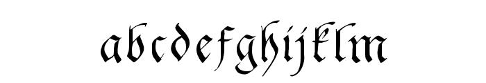 GingkoFraktur Font LOWERCASE