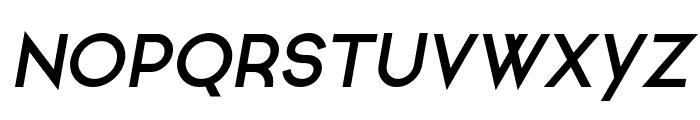 Ginora Sans Bold Oblique Font UPPERCASE