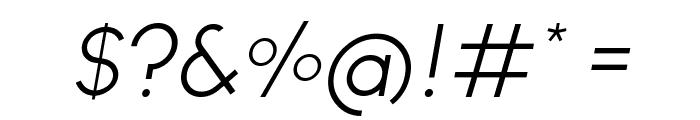 Ginora Sans Light Oblique Font OTHER CHARS
