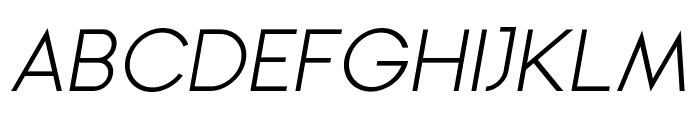 Ginora Sans Light Oblique Font UPPERCASE