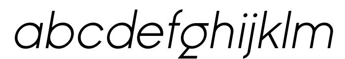 Ginora Sans Light Oblique Font LOWERCASE