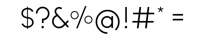 Ginora Sans Light Font OTHER CHARS