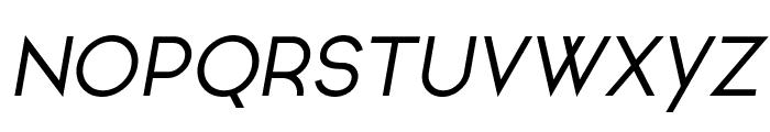 Ginora Sans Oblique Font UPPERCASE