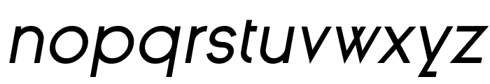 Ginora Sans Oblique Font LOWERCASE