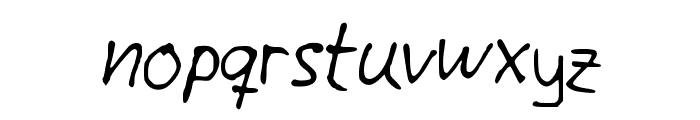 Giotto Handwriting Font LOWERCASE