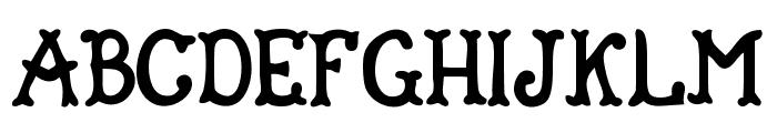 Gipsy Bar Font UPPERCASE