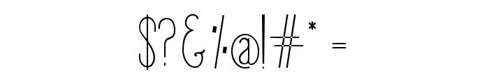 Giraffe Regular Font OTHER CHARS