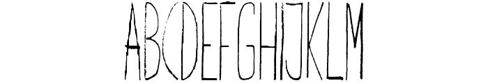 Giraffenhals-Condensed Font UPPERCASE