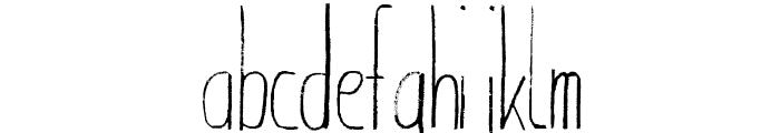 Giraffenhals-Condensed Font LOWERCASE