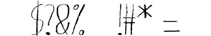 Giraffenhals-Extended Font OTHER CHARS