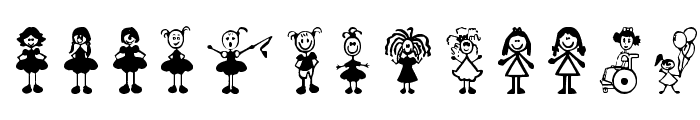 Girl Characters Font LOWERCASE