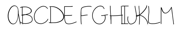 GirlNextDoor Font UPPERCASE