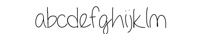 GirlNextDoor Font LOWERCASE