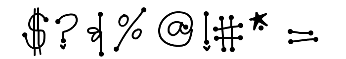 GirlyDots Font OTHER CHARS