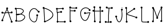 GirlyDots Font UPPERCASE