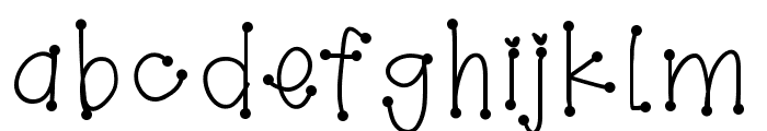 GirlyDots Font LOWERCASE
