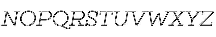 GistLight Font UPPERCASE