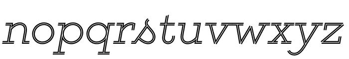 GistLight Font LOWERCASE