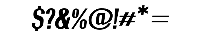 Give A Hoot Bold Extended Oblique Font OTHER CHARS